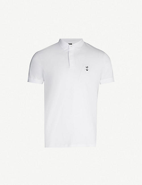 b972242c04b EMPORIO ARMANI Manga Bear cotton-piqué polo shirt