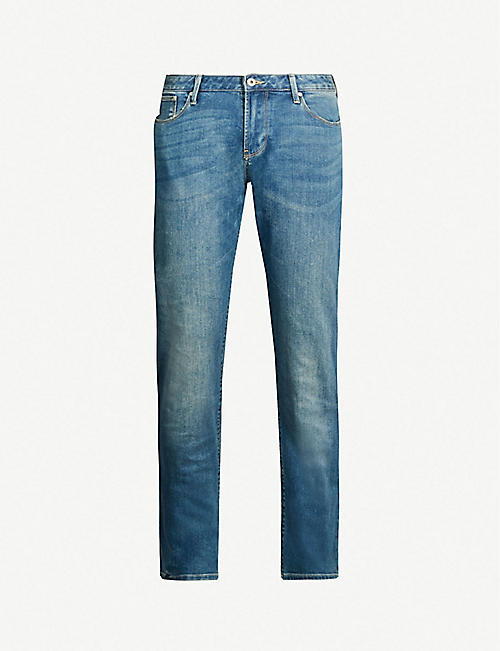 b59a7819c02a EMPORIO ARMANI Slim-fit tapered jeans