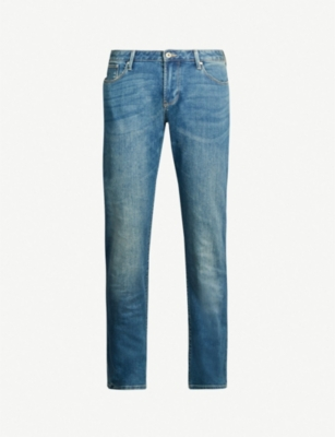 EMPORIO ARMANI Slim-fit tapered jeans