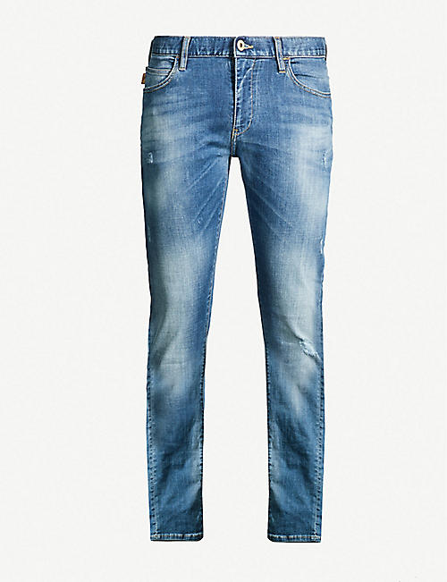 EMPORIO ARMANI Faded wash slim-fit d98af4e843a7
