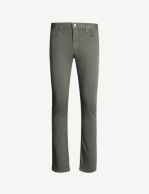 EMPORIO ARMANI Dyed regular-fit tapered jeans
