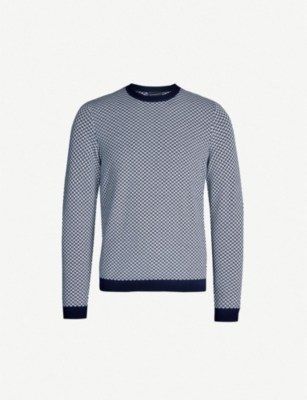 EMPORIO ARMANI Chevron knitted jumper