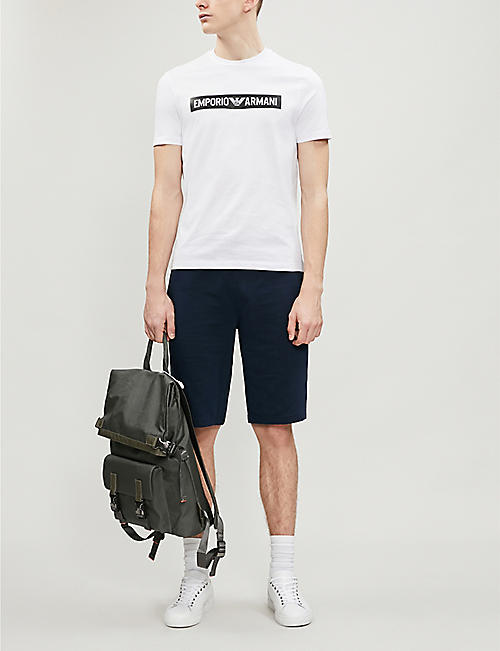 EMPORIO ARMANI Logo-print slim-fit cotton-jersey T-shirt