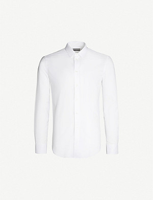 EMPORIO ARMANI Slim-fit cotton-twill shirt