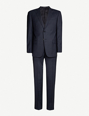 EMPORIO ARMANI Check slim-fit virgin wool suit