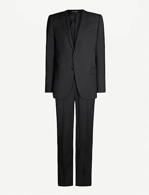 EMPORIO ARMANI M-line stretch-wool suit