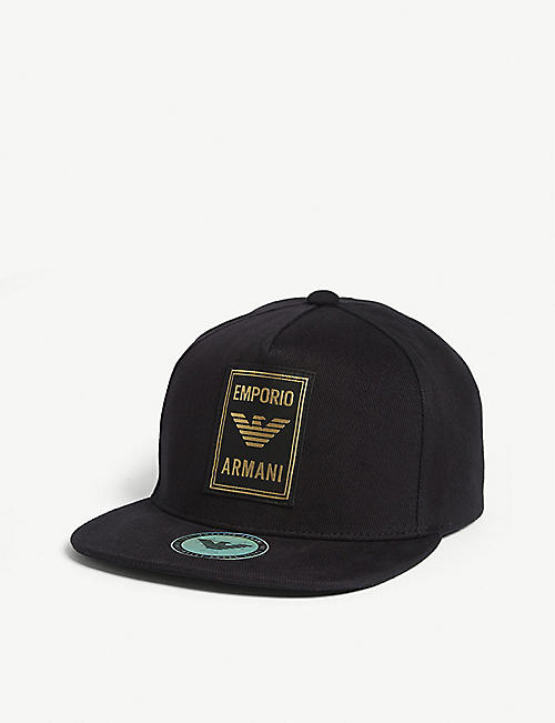 EMPORIO ARMANI Logo patch cotton cap