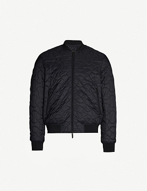 EMPORIO ARMANI Eagle-quilted reversible padded bomber jacket