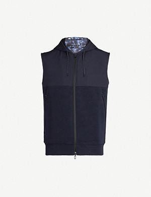 EMPORIO ARMANI Hooded shell and jersey gilet