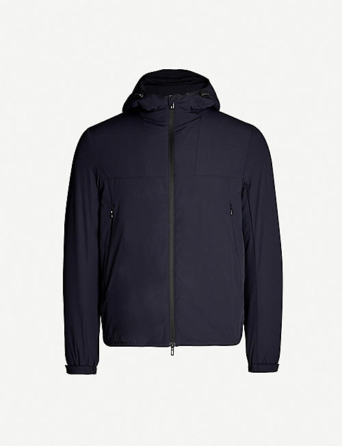 EMPORIO ARMANI Hooded padded shell jacket