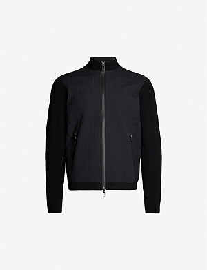 EMPORIO ARMANI Quilted stretch cotton-blend jacket