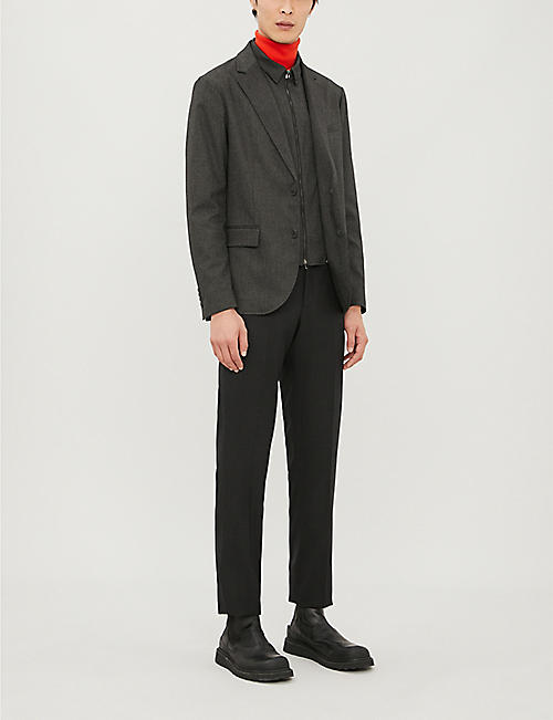 EMPORIO ARMANI Slim-fit stretch-woven blazer