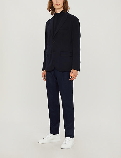 EMPORIO ARMANI Regular-fit stretch-jersey blazer