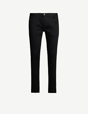 EMPORIO ARMANI Logo-badge slim-fit straight jeans