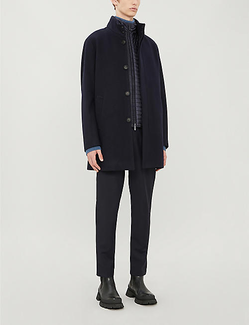 EMPORIO ARMANI Two-in-one wool-blend coat