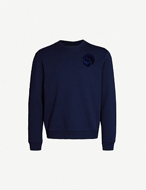 EMPORIO ARMANI Branded-patch cotton-jersey sweatshirt