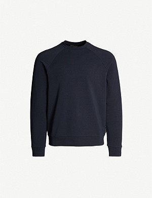 EMPORIO ARMANI Logo-embossed cotton-jersey jumper