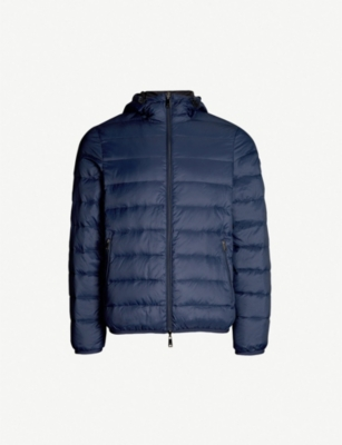 EMPORIO ARMANI Hodded padded shell-down jacket