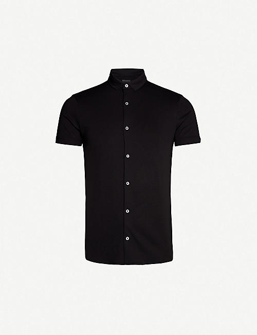 EMPORIO ARMANI: Slim-fit cotton-jersey shirt