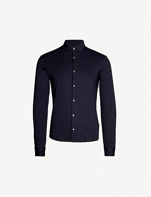 EMPORIO ARMANI: Slim-fit cotton shirt