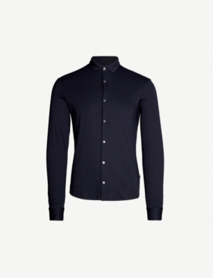 EMPORIO ARMANI Slim-fit cotton shirt