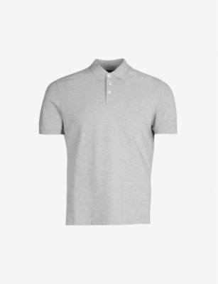 EMPORIO ARMANI Logo-embroidered cotton polo shirt