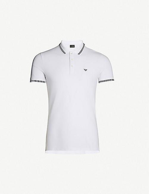 ae79d6e75 EMPORIO ARMANI Logo-detail stretch-cotton polo shirt