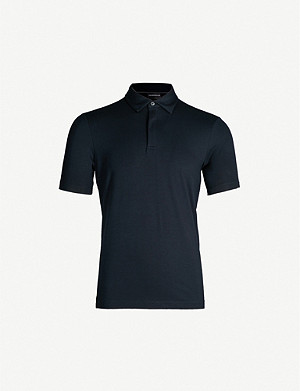 EMPORIO ARMANI Logo-embroidered stretch-jersey polo shirt