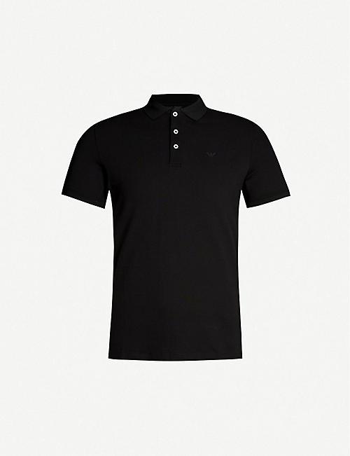 ffa7074d EMPORIO ARMANI Slim-fit stretch-cotton polo shirt