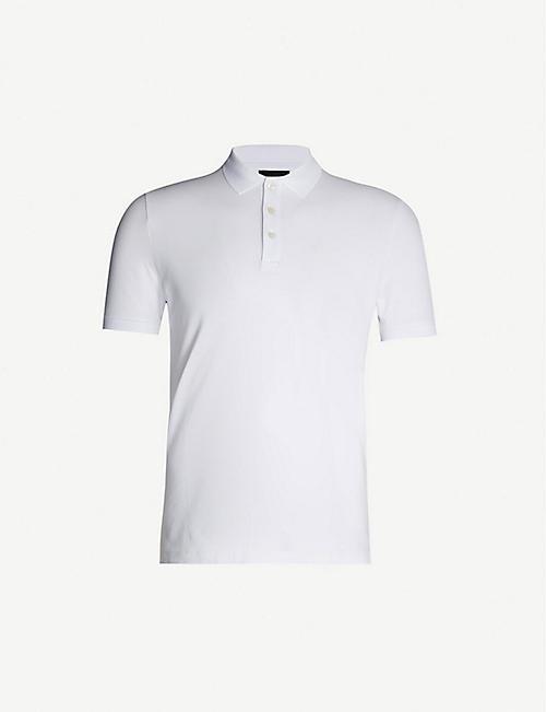 c937a8f7da EMPORIO ARMANI Slim-fit stretch-cotton polo shirt