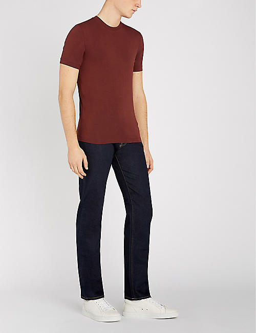 EMPORIO ARMANI J45 regular-fit tapered jeans