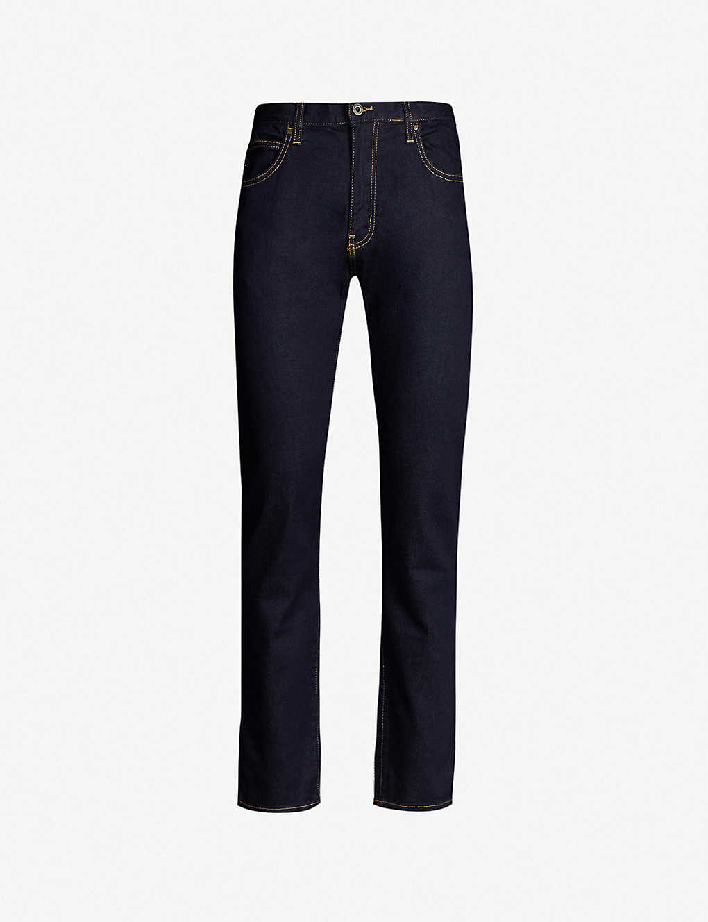 EMPORIO ARMANI: J45 regular-fit tapered jeans