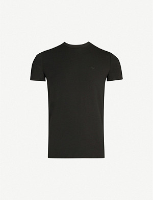 EMPORIO ARMANI Logo-print stretch-cotton T-shirt