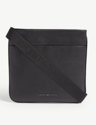 EMPORIO ARMANI Leather cross-body bag