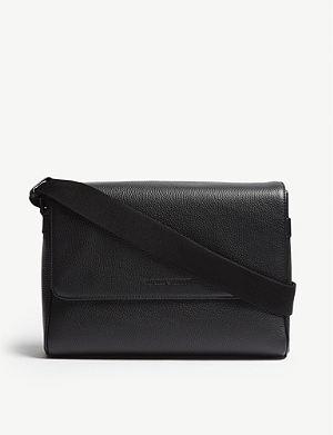 EMPORIO ARMANI - Leather trim nylon messenger bag  d85a76cf02373
