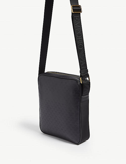EMPORIO ARMANI Logo leather shoulder bag