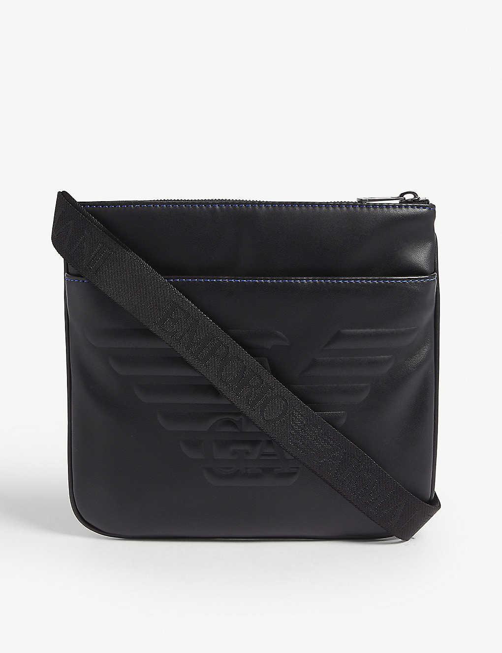 ba4f9f966b Logo-embossed faux-leather cross-body bag