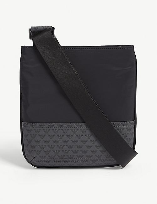 a69676d42a2a EMPORIO ARMANI Logo-print faux-leather cross-body bag