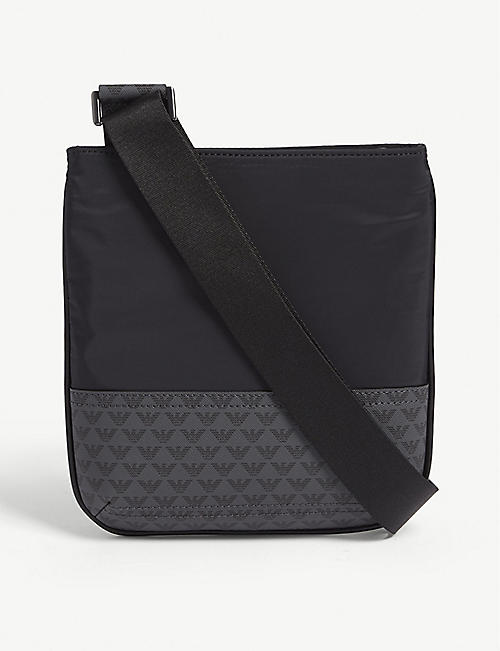 EMPORIO ARMANI Logo-print faux-leather cross-body bag 99a3bb68b848b