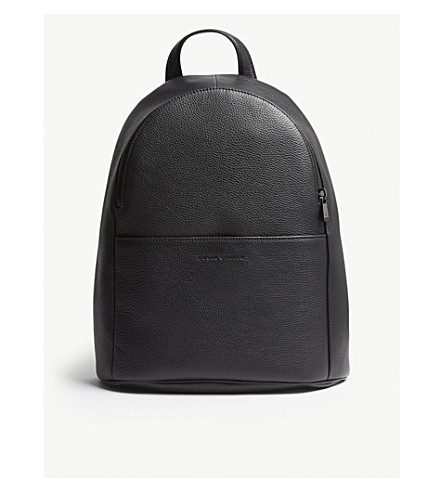 EMPORIO ARMANI Grained leather backpack (Black 8d65f628f383d