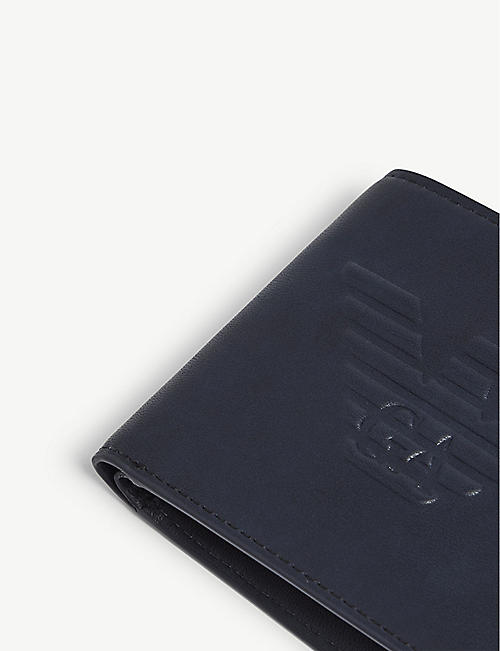 EMPORIO ARMANI Logo-embossed leather wallet