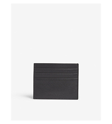 a7d133bef3 EMPORIO ARMANI - Logo grained leather card holder | Selfridges.com