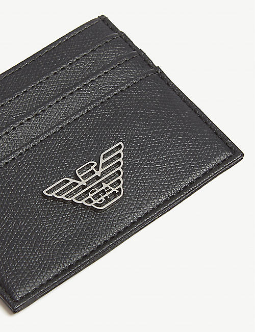 EMPORIO ARMANI Logo leather card holder