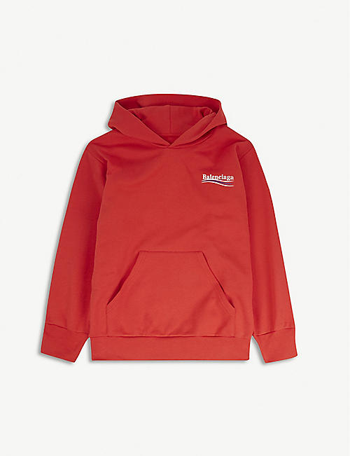 BALENCIAGA Molleton logo cotton-blend hoody 2-10 years