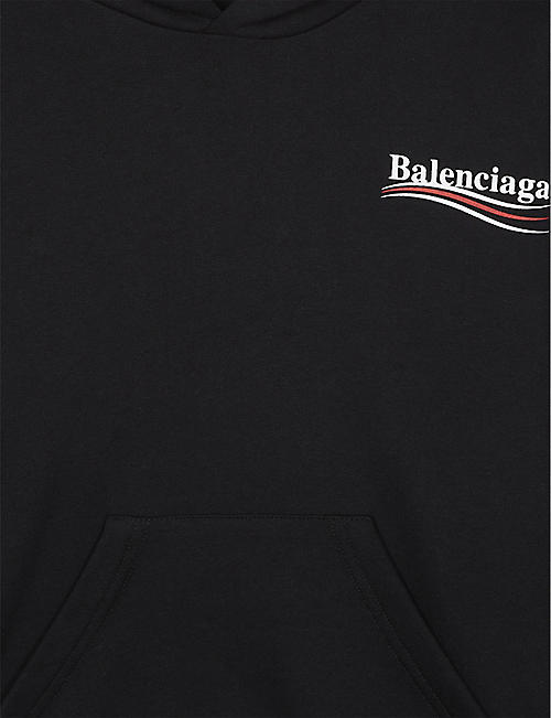 BALENCIAGA Political cotton-blend hoody 4-10 years