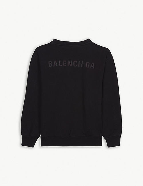 BALENCIAGA Logo cotton-blend jumper 4-10 years