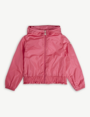 MONCLER Erinette ruffled hooded nylon jacket 4-14 years