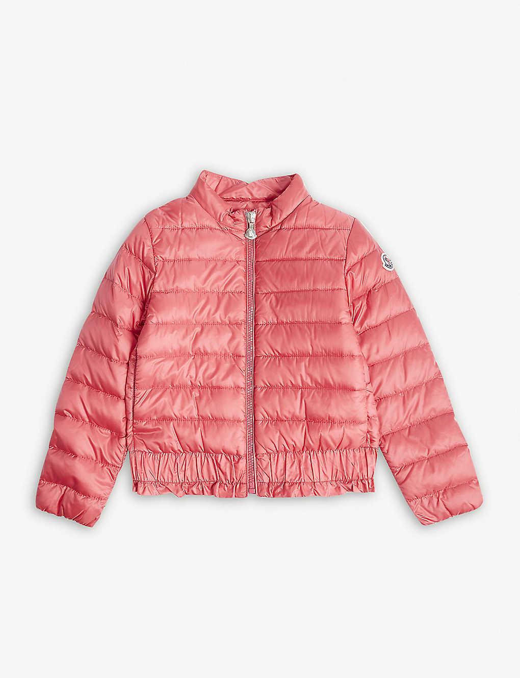 47812db4c MONCLER - Abricot ruffled hem padded coat 4-14 years | Selfridges.com