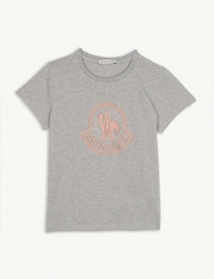 MONCLER Logo cotton-blend T-shirt 4-14 years