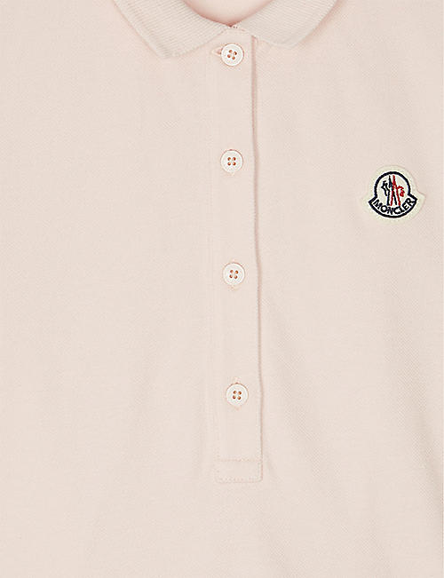 MONCLER Patch logo cotton dress 4-14 years